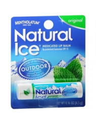 Mentholatum Natural Ice Lip Balm Original SPF 15 1 Each