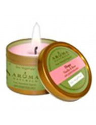 """To Go Tin Hope Pale Pink - Small Tin Candle 2 1/2"""""""" x 1 3/4"""""""", 1 pc,(Aroma Naturals)"""