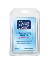 Clean & Clear Oil-Absorbing Sheets-50 ct (Pack of 5)
