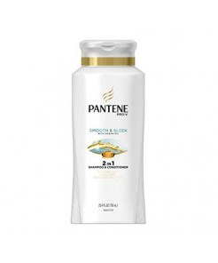 Pantene Pro-V Smooth & Sleek, Shampoo & Conditioner 25.4 oz ( Packs of 4)
