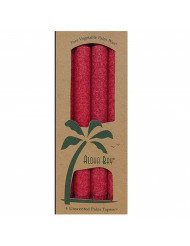 Aloha Bay TAPER CANDLE,9IN,RED