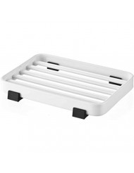 YAMAZAKI home 6799 Tower Soap Tray-Steel Holder Dish for Sink, White