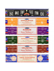 Set of 6 Nag Champa Sunrise Sandalwood Patchouli Celestial Super Hit by Satya