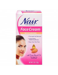 Nair Hair Remover Face Cream, 2 Oz, Pack of 2
