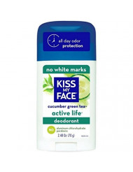 Kiss My Face Active Life Deodorant, Cucumber Green Tea 2.48 oz