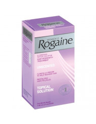 Rogaine Women's Topical Solution, Hair Regrowth Treatment, Unscented - 2 fl oz, Pack of 4