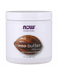 NOW Solutions, Cocoa Butter, Multi-Purpose Skin Moisturizer, Natural Moisture for the Whole Body, 7-Ounce