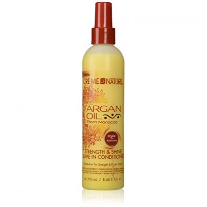 Creme of Nature with argan oil - Strength & Shine Leave-In Conditioner - 250 mL / 8.45 Fl Oz.