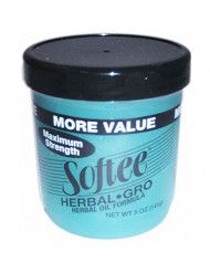 Herbal Gro Maximum Strength - Enhance & Nourish All Hair Types, 5 oz,(Softee Products)