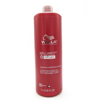 Wella Brilliance Shampoo for Coarse Colored Hair for Unisex, 33.8 Ounce