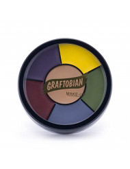 Graftobian Severe Trauma Bruise FX Makeup Wheel for Special Effects and Halloween - 6 Colors
