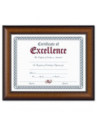DAX N3028N1T Prestige Document Frame, Walnut/Black, Gold Accents, Certificate, 8 1/2 x 11
