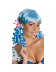 Secret Wishes Strawberry Shortcake Adult Deluxe Muffin Wig, Blueberry, Adult