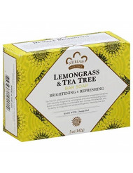 Nubian Heritage Lemongrass & Tea Tree Bar Soap, 5 oz (Pack of 8)