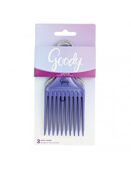 Goody Comb & Lift Hair Pick, 3 Count, Assorted Colors
