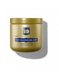 RoC Daily Resurfacing Facial Disks, Exfoliating Makeup Removing Pads with Skin-Conditioning Cleanser, Hypoallergenic & Oil-Free, 28 ct