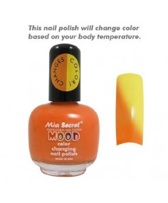 Mia Secret Mood Nail Lacquer Color Changing Nail Polish Papaya To Mango