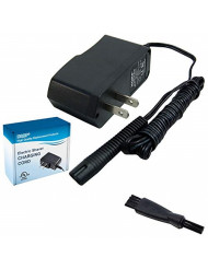 HQRP 12V AC Adapter Power Cord Charger works with Braun Series 3 Model 340s-4 Type 5414, CruZer2 CruZer3 Model Z30 Z50 2775 2776 2864 2865 2866 2874 2876 Type 5733 Shaver plus Cleaning Brush