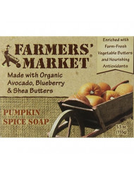 Farmers' Market Organic Bar Soap Pumpkin Spice, Pack of 2, 5.5-Ounces Each