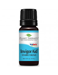 Plant Therapy Invigor-Aid Synergy Essential Oil Blend. 100% Pure, Undiluted, Therapeutic Grade. Blend of: Sandalwood, Black Pepper and Lemon. 10 ml (1/3 oz).