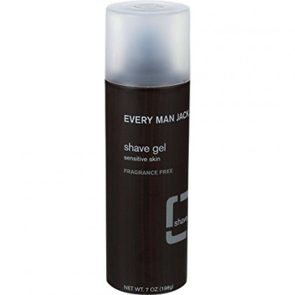 Every Man Jack: Shave Gel, Fragrance-Free, 7 Ounces- Pack of 4