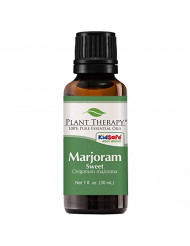 Plant Therapy Marjoram Sweet Essential Oil 100% Pure, Undiluted, Natural Aromatherapy, Therapeutic Grade 30 mL (1 oz)