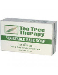 Tea Tree Therapy Vegetable Base Soap with Tea Tree Oil - 3.9 oz - Pack of 9