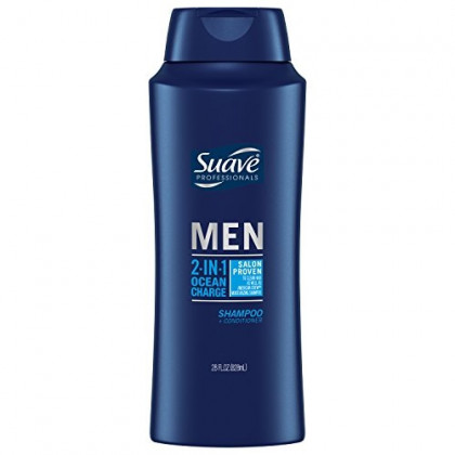 Suave 2 in 1 Shampoo and Conditioner, Ocean Charge, 28 Fl Oz (Pack of 1)