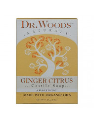 Dr. Woods Moisturizing Ginger Citrus Bar Soap with Jojoba Oil and Organic Shea Butter, 5.25 Ounce (Pack of 1)