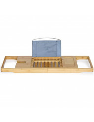 ToiletTree Products Bamboo Bathtub Caddy with Extending Sides and Adjustable Book Holder