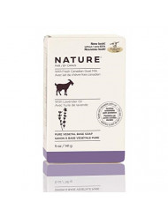 Nature by Canus, Fresh Goat's Milk Vegetable-Based Soap Bar, Lavender Oil