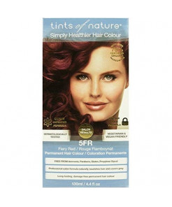 Tints of Nature 5FR Fiery Red Permanent Hair Dye | A Vivid And Vibrant Red Home Hair Colour Kit | Vegan Friendly | 130ml / 4.4 fl oz