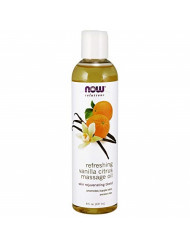 NOW Solutions, Refreshing Vanilla Citrus Massage Oil, Skin Rejuveating Blend, Supple Skin, 8-Ounce