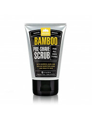 Pacific Shaving Company Bamboo Pre-Shave Scrub - With Bamboo, Aloe & Willow Bark, Exfoliates, Soothes & Moisturizes Skin, Helps Control Blemishes, Fragrance-Free, All Skin Types, Made in USA, 3.0 oz