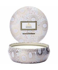 Voluspa Mokara 3 Wick Tin Candle, 12 Ounces