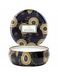 Voluspa Moso Bamboo 3 Wick Tin Candle , 12 Ounces