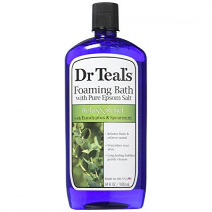 Dr Teal's Foaming Bath (Epsom Salt), Eucalyptus Spearmint, 34 Fluid Ounce