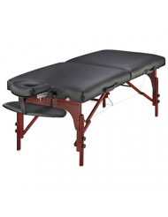 "Master Massage 31"" Montclair Professional Portable Massage Table Package with MEMORY FOAM Layer -Black"