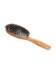 Bass Brushes | Shine & Condition | Luxury Grade Hair Brush | 100% Premium Natural Bristle | Large Oval with Pure Bamboo Handle