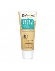 REDMOND - Earthpaste All Natural Non-Fluoride Vegan Organic Non GMO Real Ingredients Toothpaste, Wintergreen, 4 Ounce Tube