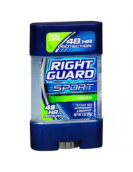 Right Guard U-BB-1308 Sport 3-D Odor Defense Antiperspirant & Deodorant Clear Gel Fresh - 3 oz - Deodorant Stick
