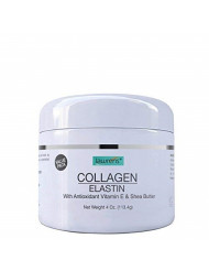 Collagen Elastin Cream with Antioxidant Vitamin E & Shea Butter by Lawrens Cosmetics - Hydration - Firmness - Elasticity - Value Pack (2)