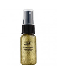 Mehron Makeup Hair and Body GlitterSpray (1 oz) (Gold)