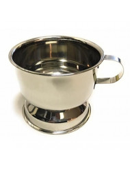 Kingsley Silver Plated Shaving Soap Cup With Handle by Kingsley