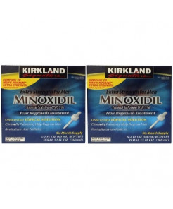 Minoxidil for Men 5% Extra Strength Hair Regrowth for Men, 12 Month Supply by Kirkland Signature