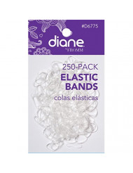 Diane D6775 Elastic Bands, Clear, 250 Count