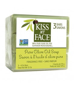 Kiss My Face Naked Pure Olive Oil Moisturizing Bar Soap, 3 Count