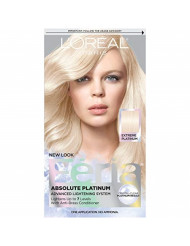 L'Oreal Paris Feria Multi-Faceted Shimmering Permanent Hair Color, Extreme Platinum, 1 kit Hair Dye