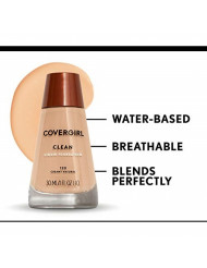 COVERGIRL Clean Makeup Foundation Classic Tan 160, 1 oz (packaging may vary)