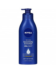 NIVEA Essentially Enriched Body Lotion 16.9 oz (Pack of 3) - Packaging May Vary